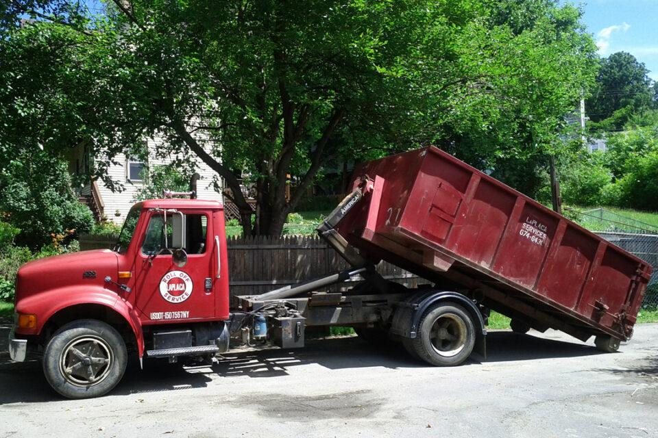 Ed LaPlaca Dumpster Pick Up 1